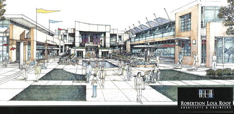 Concept drawing of Arts and Culture Center in Johns Creek